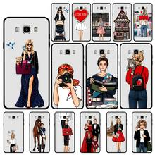 yinuoda pantone candy color case luxury for samsung galaxy note 9 a3 a5 a6 a7 mobile phone accessories Yinuoda Fashion Work Hard Girl case luxury for samsung galaxy note 9 a3 a5 a6 a7 mobile phone accessories