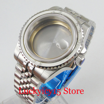 40mm Stainless Steel Watch Case with Sapphire Glass + Jubilee Bracelet Fit ETA 2836 MIYOTA Automatic Movement