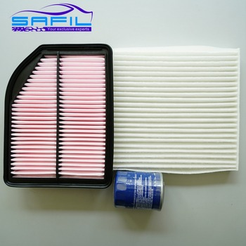 set filters for HONDA city 1.8L CRIDER 1.8 2007-2016 honda CRV 2.4 OEM:17220-R5A-A00 80292-SDG-W01 15400-PLM-A01 image