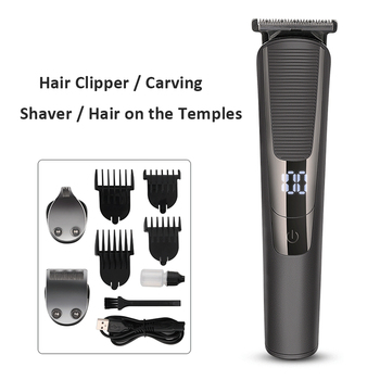 Professional Hair Clippers Barber Haircut Sculpture Cutter Rechargeable Razor Trimmer Cordless Beard Trimmer Clipper for Men professional hair trimmer body face clipper usb electric hair clippers men cordless beard razor trimmers barber haircut cutter