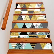 6 шт/компл ПВХ лестницы стикер водонепроницаемый самоклеющиеся
