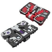 Mały rozmiar Robot Siege War dla Cybertron Ravage + Laserbeak Red Heat + stackout klasyczne zabawki dla chłopca dzieci figurka z pudełkiem