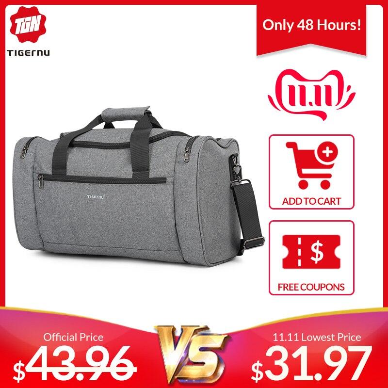 Tigernu 2019 New Large Capacity Travel Bag Men Multifunction Handbag With Shoulder Strap Waterproof High Quality Casual Bag Male