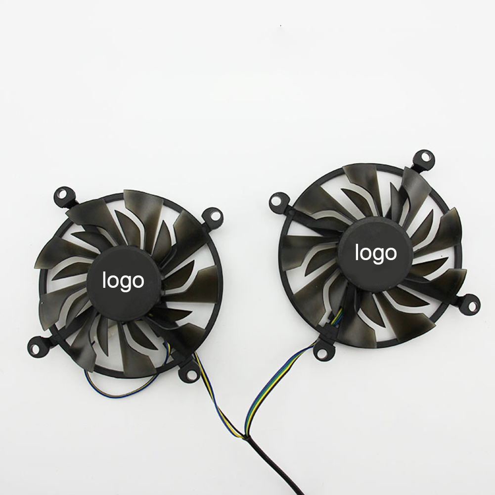 ZOTAC <font><b>GeForce</b></font> <font><b>GTX</b></font> 1060-3G / 6GD5 Cooler For ZOTAC <font><b>GTX</b></font> <font><b>950</b></font>-<font><b>2GD5</b></font> TSI PA <font><b>GTX</b></font> 960-4GD5 HBGTX1060 P106-100 Video Card Fan image