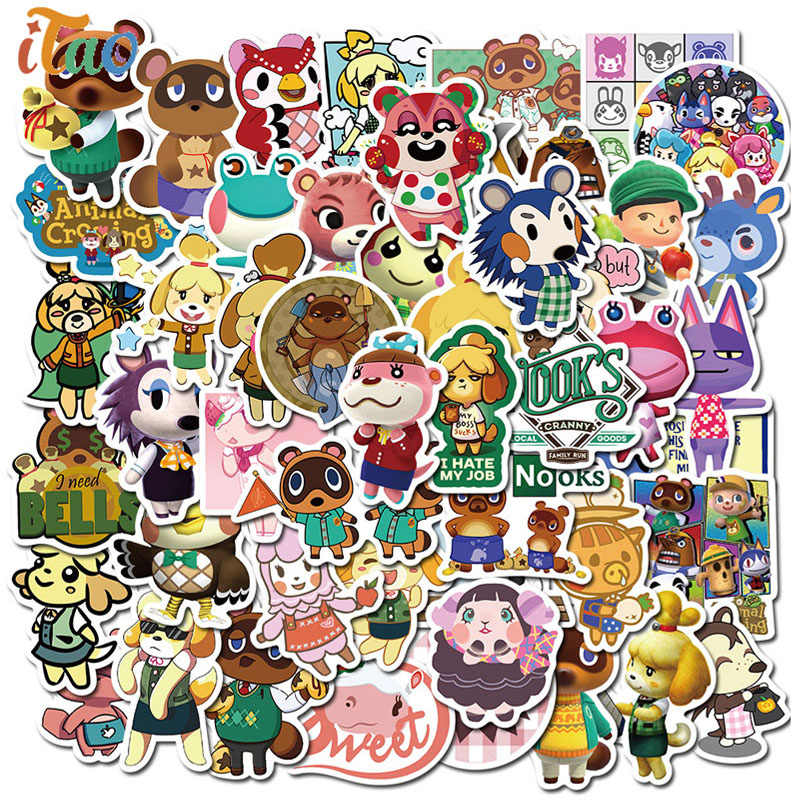 Willekeurige/Pack Cartoon Animal Crossing Games Stickers Waterdicht Skateboard Gitaar Bagage Motorfiets Laptop Leuke Sticker Kinderen Speelgoed