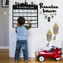 Eid Mubarak-Calendario de Adviento en fieltro colgante, decoración de Ramadán Kareem, calendario de cuenta atrás para niños, regalos, decoraciones de fiesta islámica musulmana