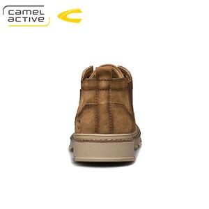 Image 2 - Camel Active nowe męskie buty ze skóry naturalnej ręcznie mężczyzna na zewnątrz buty w stylu casual grube podeszwy szwy antypoślizgowe męskie obuwie