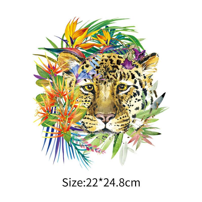 Cool Leopard สติกเกอร์ DIY ที่กำหนดเองแพทช์เหล็กบน Decals DENIM ความร้อนแพทช์สำหรับเสื้อผ้าเสื้อยืดความร้อนไวนิลสติกเกอร์