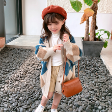 Winter Coat Girls Jacket Kids Clothing Outerwear Autumn Long for Wollen Litter And
