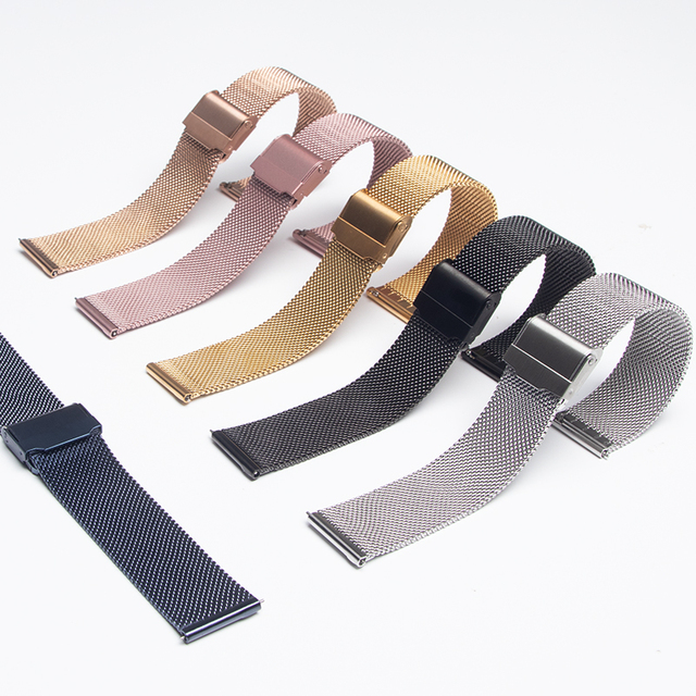 20mm 22mm metal Band for Samsung Galaxy watch 3/46mm/42mm/active 2/Gear S3 bracelet Huawei watch GT 2 2e Pro strap 1