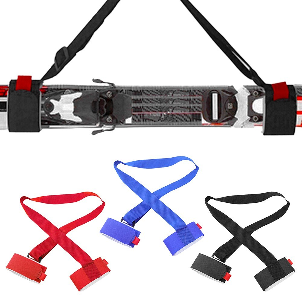 1.2M Ski Carrier Straps Handle Adjustable Snowboard Shoulder Strap Handle Skis Sling Braces