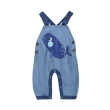 Baby Boys Girls Jeans Jumpsuit 2019 Autumn Kids Clothes Children Denim Overalls Baby Pants Rompers Salopette Fille Dungarees D20 overalls huppa for boys 8959534 baby rompers jumpsuit children clothes kids