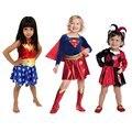 Костюм супергероя для девочек, детское платье-пачка, костюм на Хэллоуин (3-9 лет), платье чудо-сестры вечерние НКИ