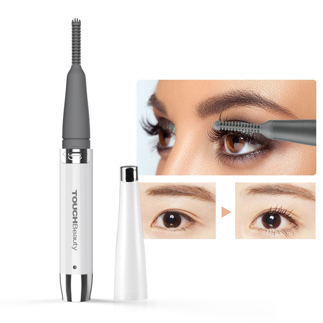 TOUCHBeauty Rechargeable 360 rotating portable eyelash curler, electric heated eyelashes curler for women makeup tools TB 1218