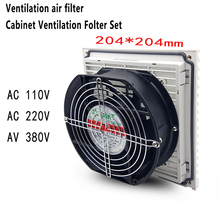 Double Ball Bearing Fan Ventilation Filter Set Grille Louvers Blower Exhaust System With