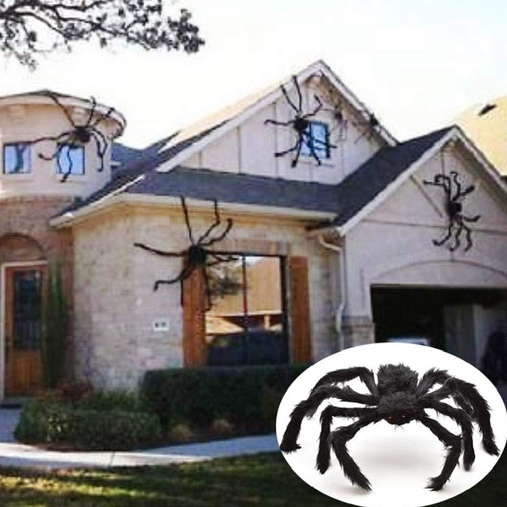 Hairy Giant Spider Decoration Halloween Prop Haunted House Decor Party Holiday Spider Decorations