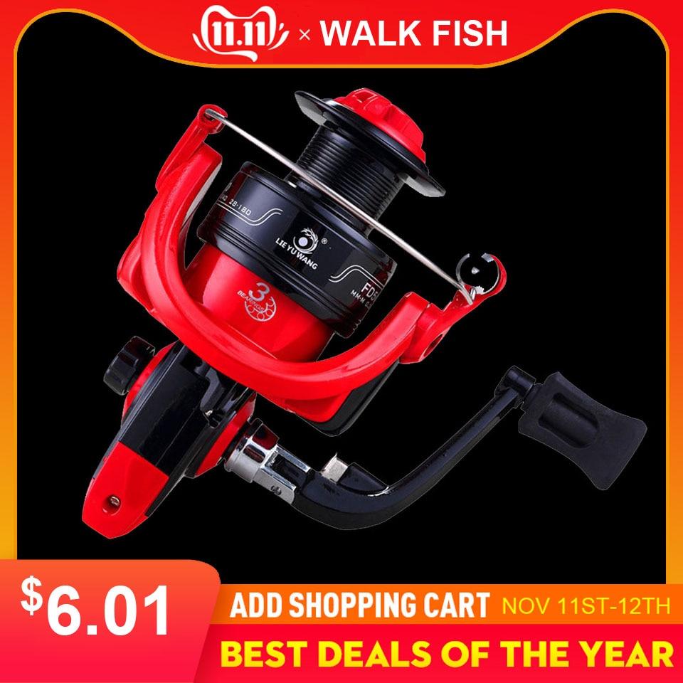 Caminhada peixes de alta velocidade carretel de pesca g-ratio 5.0: 1 isca dobrável rocker roda fiação carretel de pesca carpa molinete de pesca