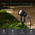 Miboxer 6 Вт RGB + CCT умный светодиодный садовый светильник FUTC04 AC100 ~ 240V IP66 Водонепроницаемый светодиодный открытый лампа Сад Освещение