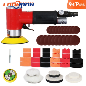 Image 1 - Nova lixadeira de ar mini máquina de moagem pneumática conjunto 2 polegada 3 polegada polidor polimento almofada kit para carro