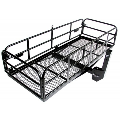 Foldable Hitch Cargo Carrier Mounted Basket Luggage Rack With 2