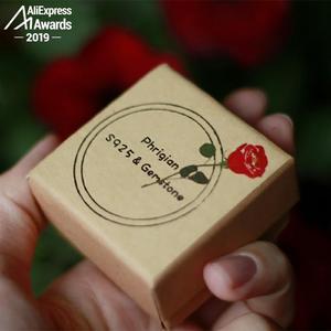 Image 5 - Oh Mio Dio Così bella 12*16mm S925 Sterling Silver Africa Quarzo Rosa Anelli Anelli regalo negozio di lituania calcedonio