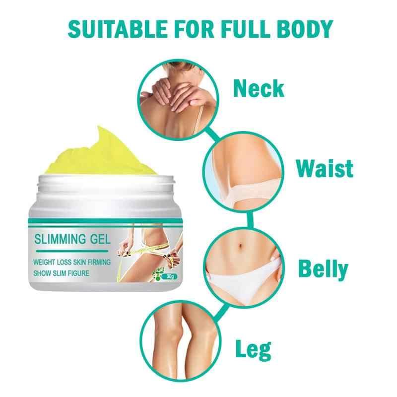 1 ud. Crema adelgazante de 30ml para adelgazar la pérdida de peso de la piel reafirmante para el cuello ombligo brazo pierna cerveza vientre cuerpo quema grasa anticelulitis