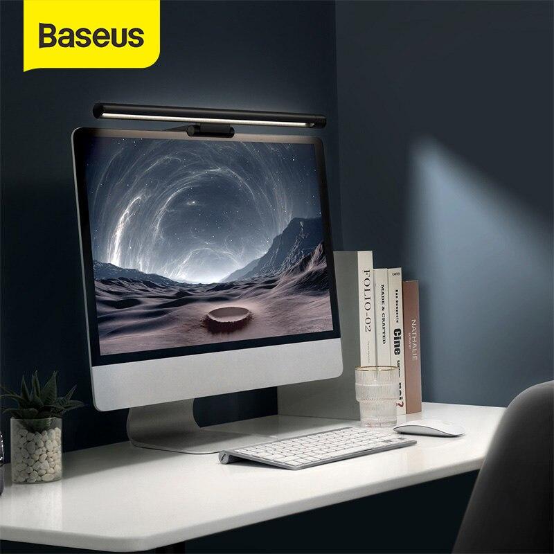 Baseusコンピュータ画面ライトledバーデスクランプpcモニターバーぶら下げテーブルランプオフィス読書無段階調光usb夜ライト