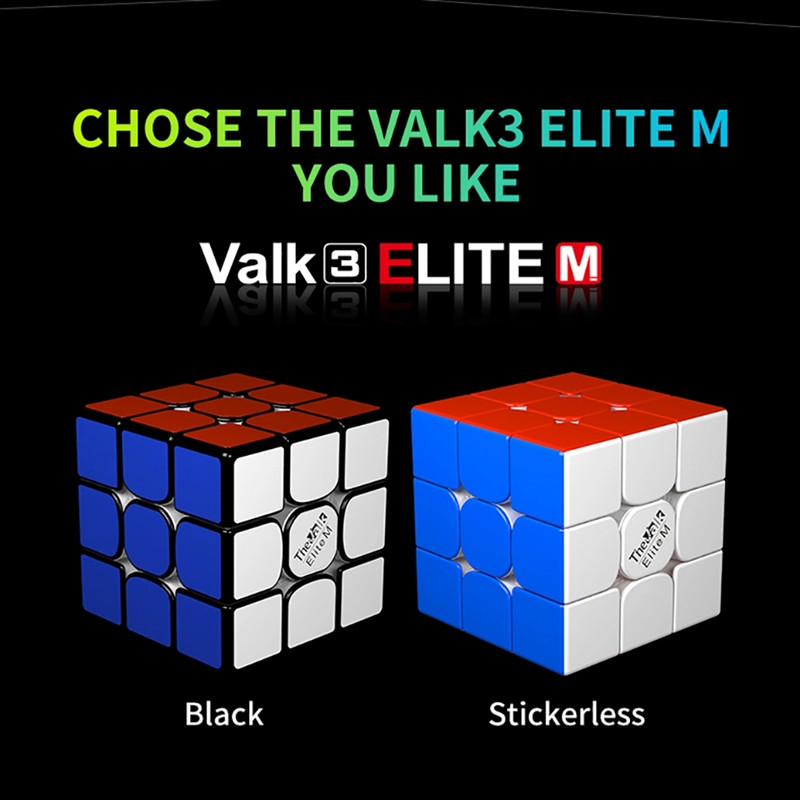 Original QiYi Valk 3 Elite M 3x3x3 Magnetic 55.5mm 3x3 Magic Cube Valk3 Speed Cubes Puzzle Educational Toys for Children