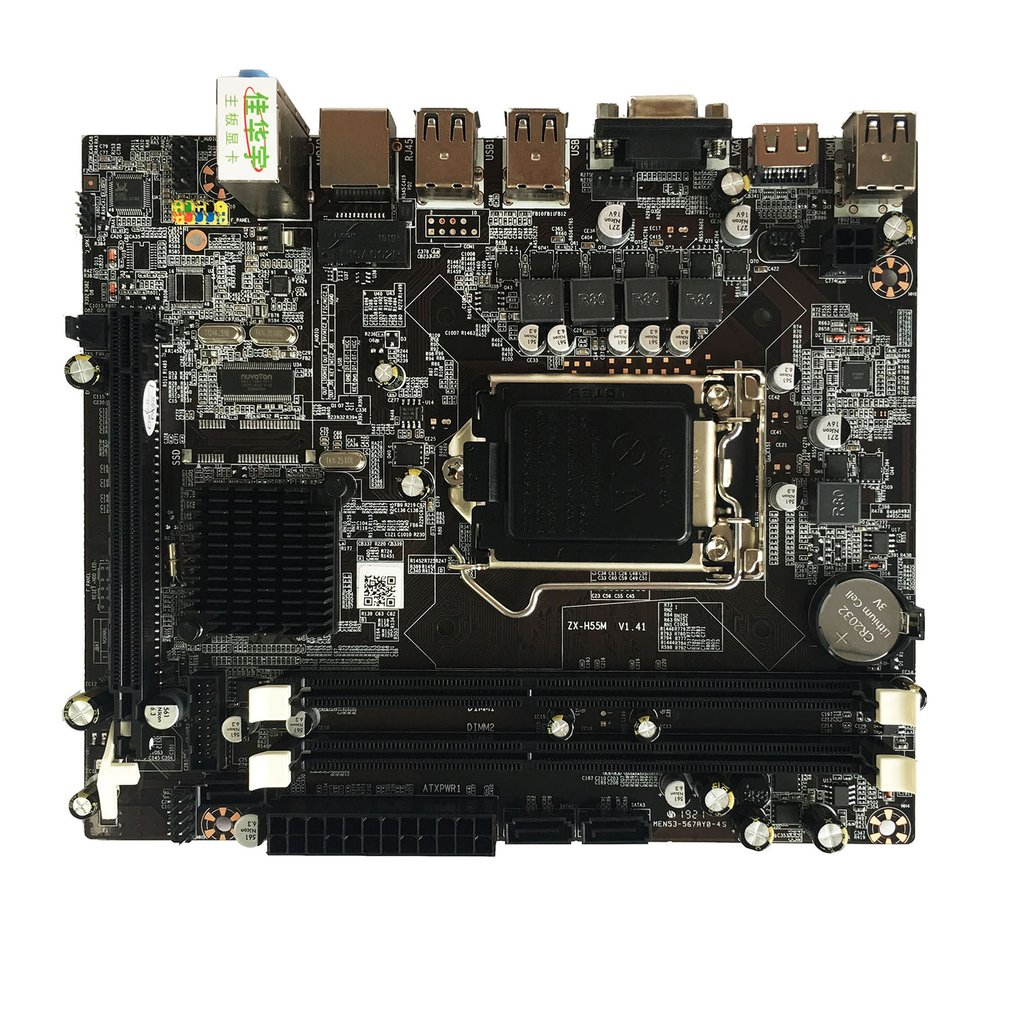 Professional Desktop Computer Motherboard for Intel H55 Socket HDMI LGA 1156 Pin Dual Channel DDR3 Mainboard with I/O Shield image