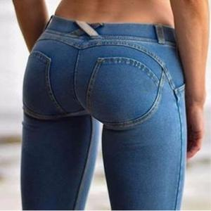 Casual Jeans Butt-Leggings Denim Pants Hip-Pencil Push-Up Bodycon Skinny Low-Waist Sexy