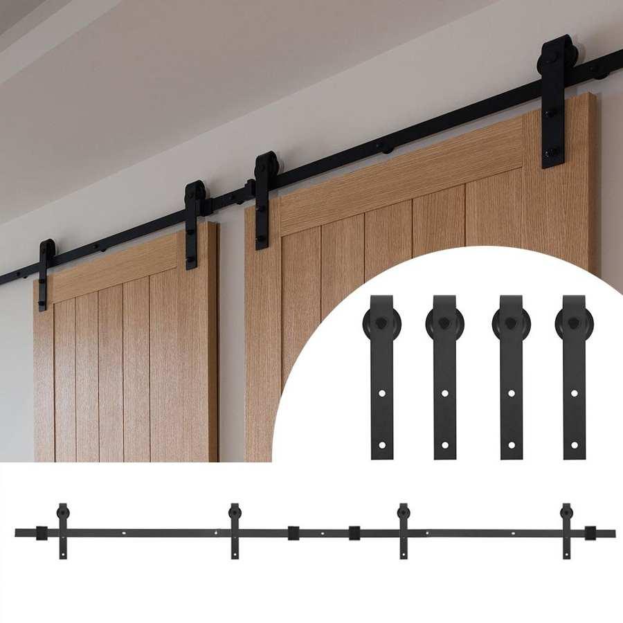 12 футов 366 см двойная дверь сплайсинга регулярные из углеродистой стали двери сарая Висячие рельсы раздвижные рельсы сарая|Дверные ролики|   | АлиЭкспресс