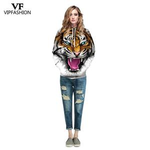 Image 4 - VIP FASNHION 2019 חורף נשים גברים סווטשירט Streetwear אופנה דיגיטלי נמר מודפס סלעית 3D הסווטשרט זוג בד