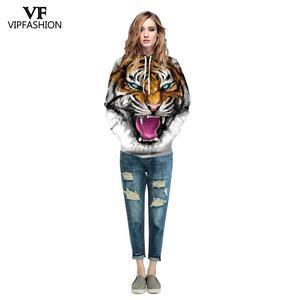 Image 4 - VIP FASNHION 2019 Winter Women Men Sweatshirt Streetwear Fashion Digital Tiger Printed Hooded 3D Hoodie Couple Cloth