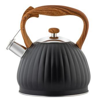 1Pc 3 5L ogrzewanie czajnik wodny czajnik z gwizdkiem czajnik do gotowania pojemnik na wodę czajnik kuchenny ze stali nierdzewnej zaparzacz do herbaty (czarny) tanie i dobre opinie CN (pochodzenie) STAINLESS STEEL Ekologiczne CE UE Water Kettles