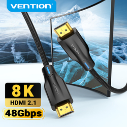 Vention HDMI Cable HDMI 2.1 Cable 8K@60Hz 4K@120Hz 48Gbps for PS4 Xiaomi Mi TV Box Digital HDR HDMI Splitter 8K HDMI 2.1 Cable