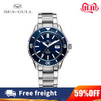 Seagull Uhr männer Sport Mode Automatische Selbst Wind leuchtende Uhr 200m Wasserdichte Business Stahlband Uhr Rolex 816,523
