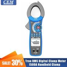 Medidor de braçadeira digital verdadeiro rms braçadeira handheld amperímetro cem DT-3351/DT-3352 ac/dc 1500a inrush medição atual hd display lcd
