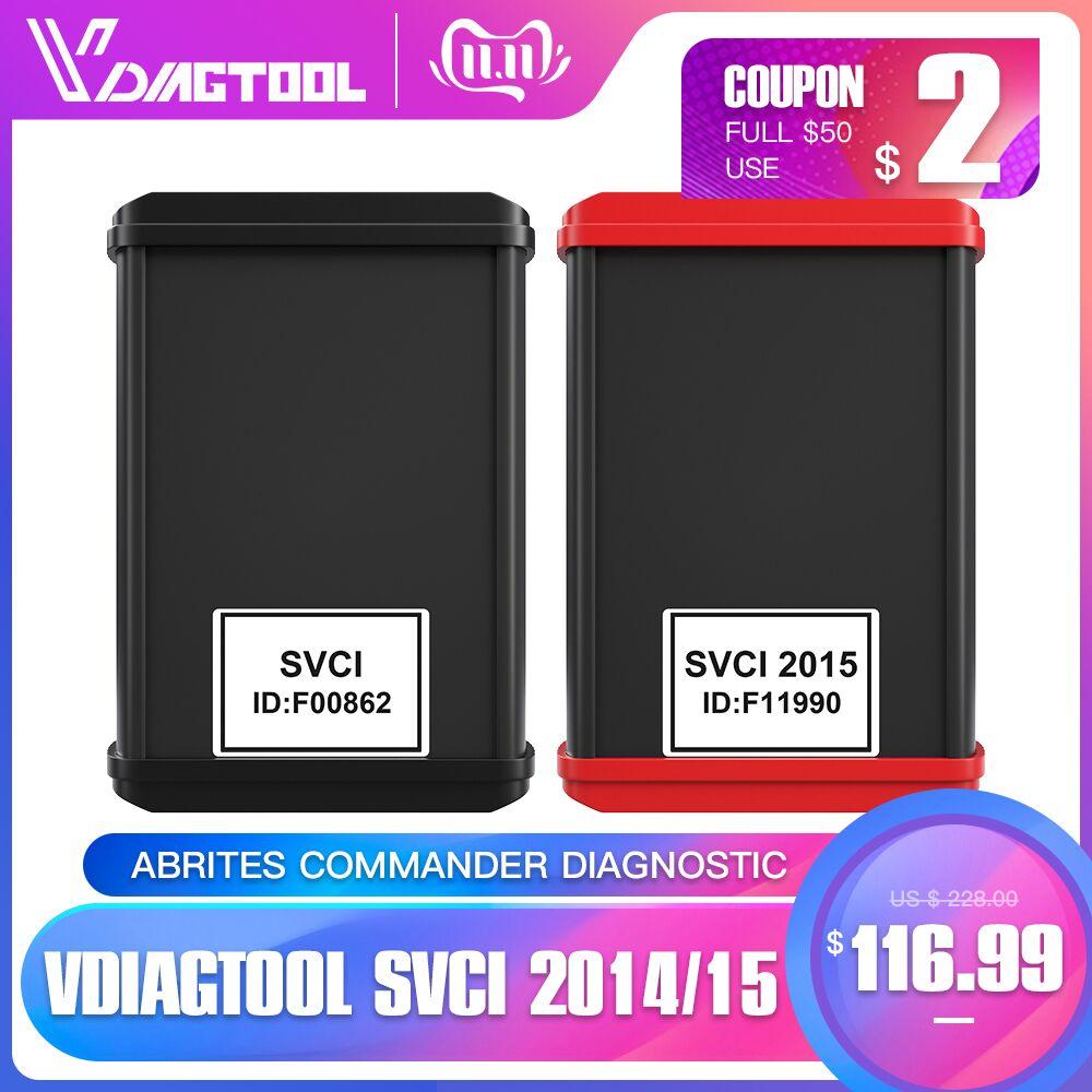 VDIAGTOOL FVDI 2014 ABRITES Commander Diagnostic Scanner SVCI2014 Odometer Correction Key Programmer Unlimited With 18 Software