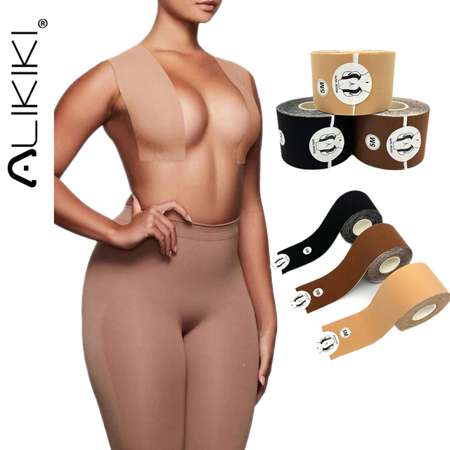 1 Roll Invisible Nipple Covers Stickers Waterproof Lift Boob Tape Push Up Breast Chest Petals Women Silicone Sticky Pasties