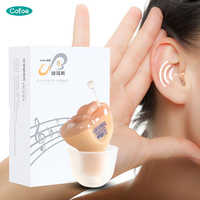 Cofoe CIC Hearing Aids Invisible Ear Hearing Aid Mini Sound Amplifier Digital Listening Aids for the Hearing-impaired Patient