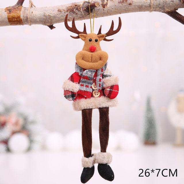 New Year 2020 Cute Santa Claus/Snowman/Angel Christmas Dolls Noel Christmas Tree Decoration for Home Xmas Navidad 2019 Kids Gift 55