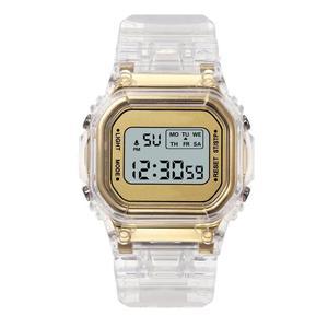 Image 3 - Nữ Sang Trọng Hoa Hồng Vàng Đồng Hồ Nam Dây Silicon Thời Trang Nữ Đèn LED Kỹ Thuật Số Đồng Hồ Casual Nữ Đồng Hồ Điện Tử Reloj Mujer 2020