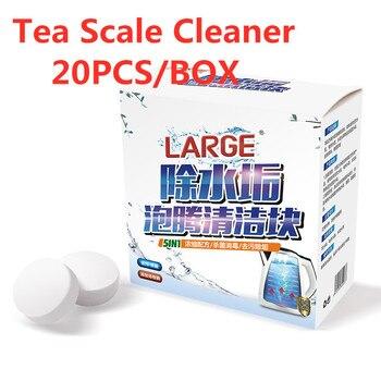 20 Uds. Limpiador a escala de té tableta agente de descalcificación Hervidor eléctrico café limpieza de máquinas tableta efervescente herramienta de limpieza de cocina