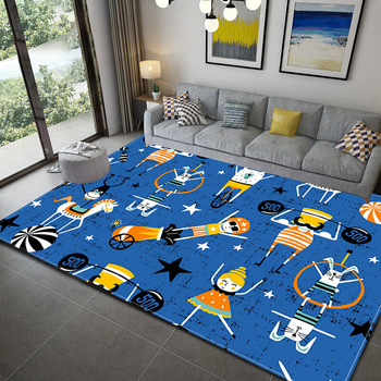 Alfombra 3D de peluda y esponjosa antideslizante, tapete con patrón geométrico para niño, comedor, sala de estar, alfombra suave para dormitorio infantil