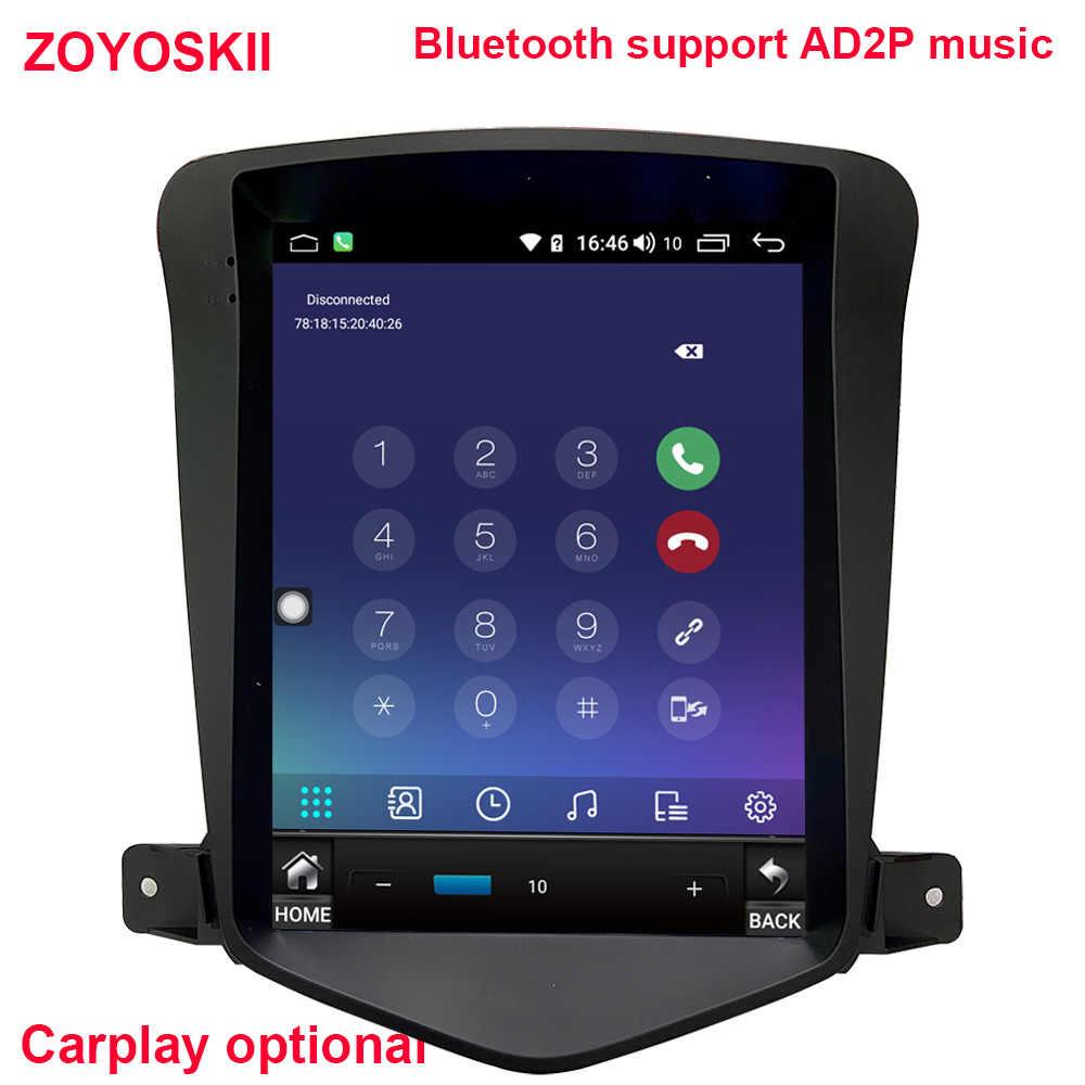 ZOYOSKII アンドロイド 9.0 10.4 インチの ips vetical hd スクリーン車の gps マルチメディアラジオナビゲーションプレーヤー用シボレークルーズ 2009- 2015