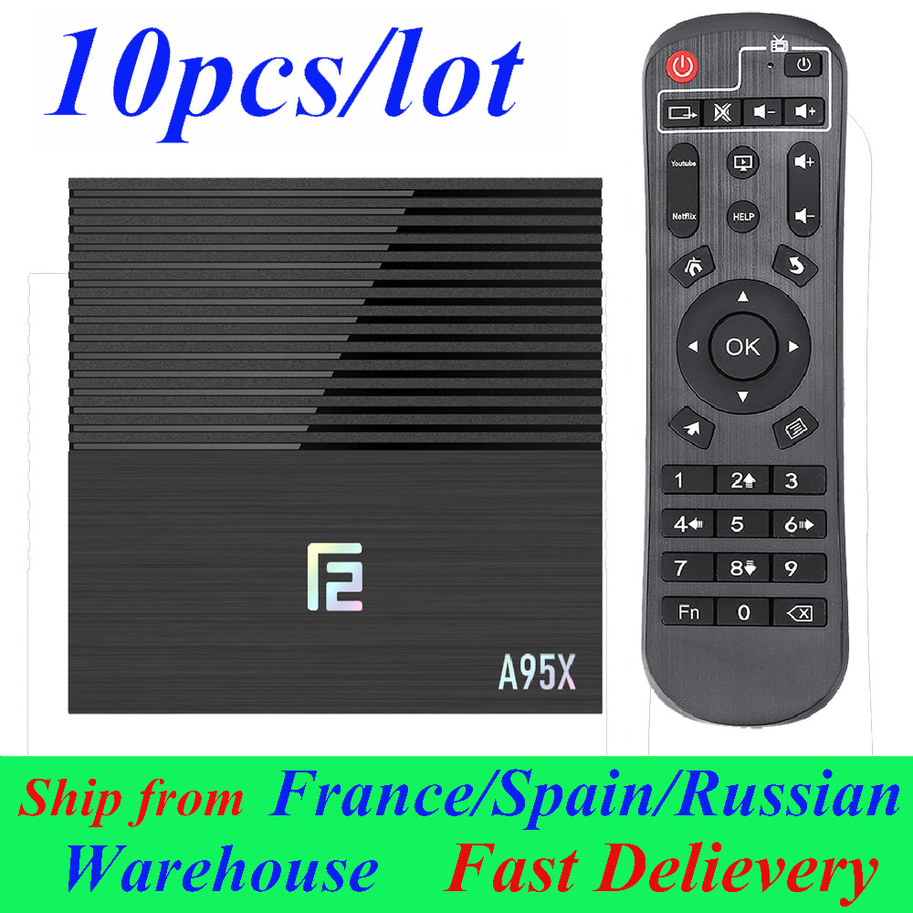 10 pçs/lote A95x F2 Android TV Box Smart Box Android 9.0 TV BOX 4 GB/32 GB 4 GB/64 GB Amlogic set top box Media Player