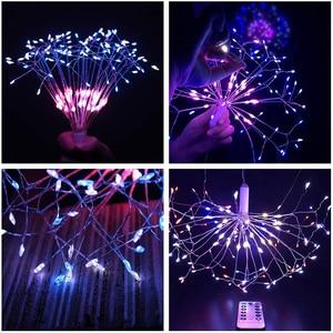 Image 5 - RC Фейерверк светодиодный светильник s водонепроницаемый медный провод Сказочный светильник подвесной Звездный взрыв мерцающий Светильник Одуванчик для рождества дома D23