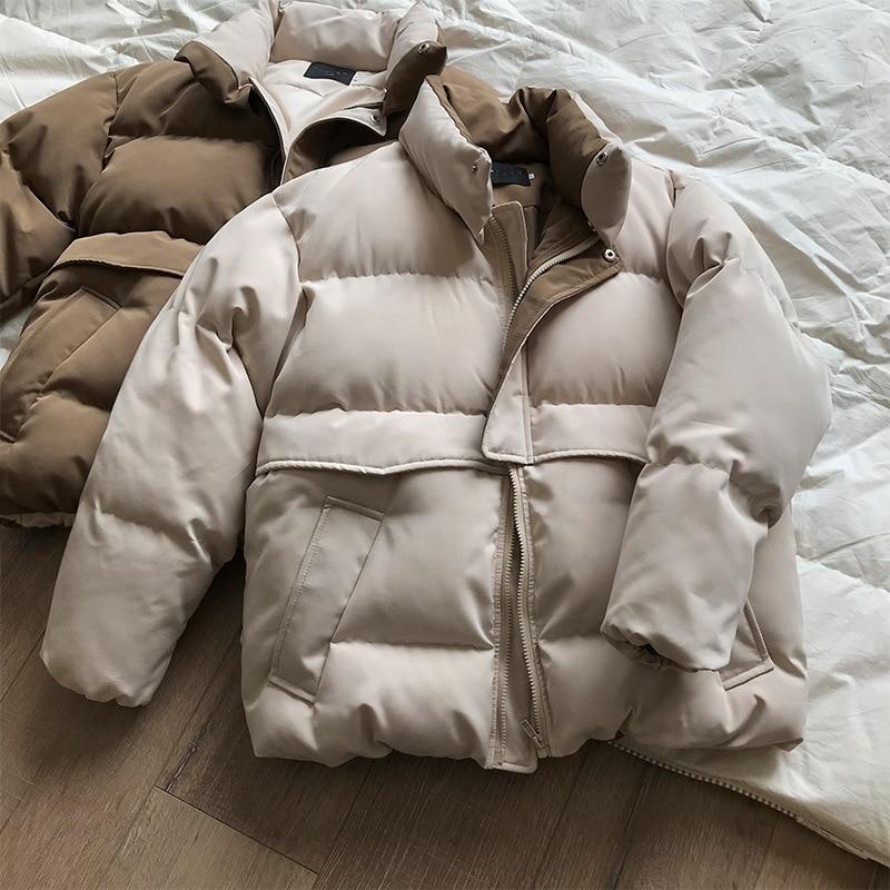 2019 Women Thick Winter Coat Stand Collar Women Jacket Coat Oversize Loose Coat Outerwear Female Casaco Feminino Parkas
