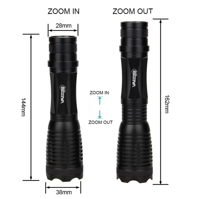 710 powerful Rechargeable Xlamp Waterproof Torch Tactical flashlight White/Green/Red LED Hunting Flashlight for AAA or 18650 2