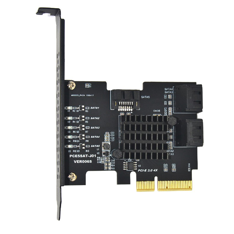 Adicionar em Cartões Pci-e Placa Pcie Sata Controlador Pci Express 3.0 Gen3 x4 Supervelocidade Não Raid Cartão Porta 5 Sata3